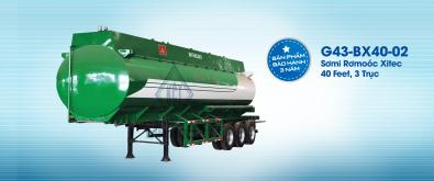 Sơmi rơmooc xitec (chở xăng) 43 mét khối G43-BX40-02