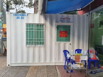 Supply isolation clinic containers for hospitals in Ho Chi Minh City