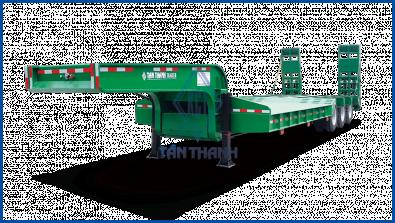 Lowbed semi-trailer 40 feet, 03 axles