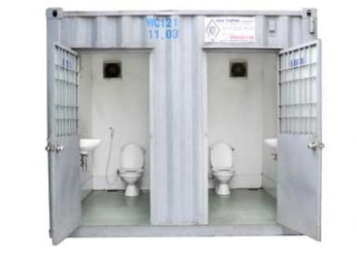 10 feet toilet container