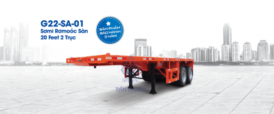Flatbed semi trailers G22-SA-01