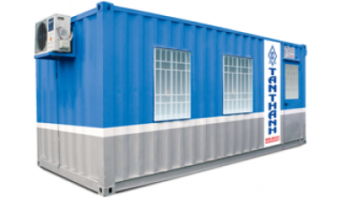 20 feet office container being equipped with toilet