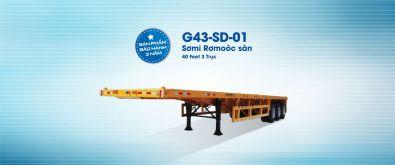 Flatbed semi trailers G43-SD-01