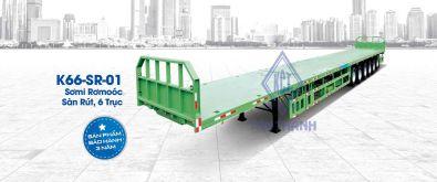 Flatbed semi trailers K66-SR-01