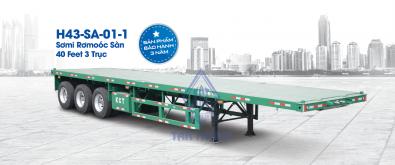 Flatbed semi trailers H43-SA-01