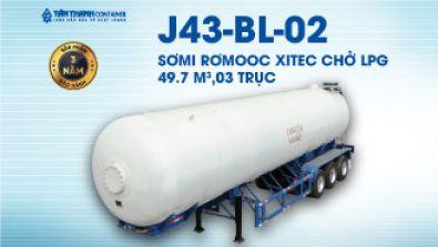 Sơmi rơmooc xitec (chở LPG) 49.7 mét khối 03 trục J43-BE-01