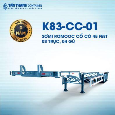 Sơmi rơmoóc cổ cò (chở container) K83-CC-01