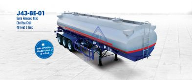 Xitec tank semi trailer (carrying chemicals) J43-BE-01