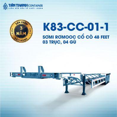 Sơmi rơmoóc cổ cò (chở container) 48 feet K83-CC-01-1